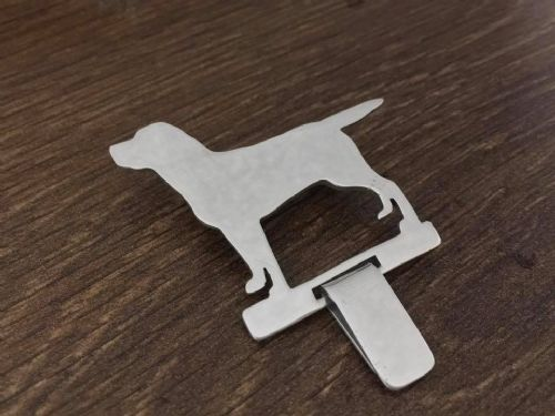 Labrador Show ring clip Handmade by saw piercing